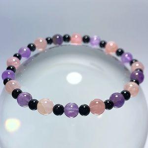 Jewelry - Rose Quartz, Amethyst & Tourmaline Bracelet!